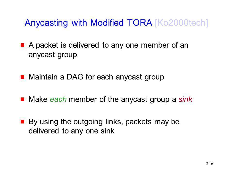 Anycasting with Modified TORA [Ko2000tech]